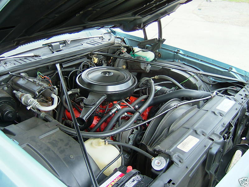 Under hood support rods 73chev13